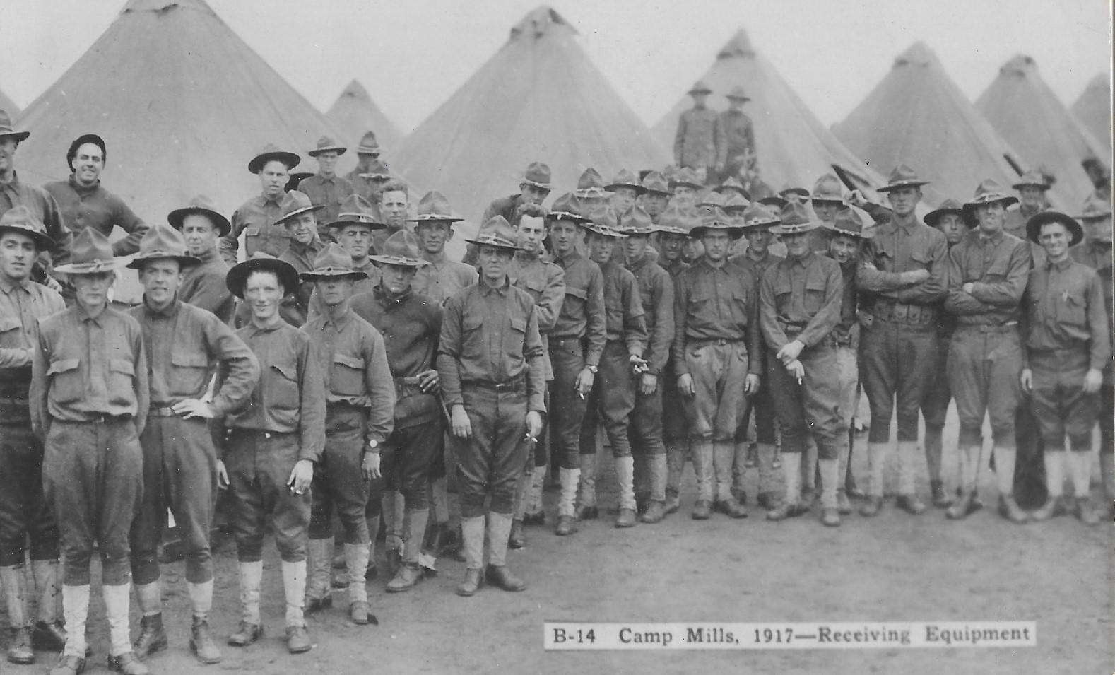Troops at Camp Mills in World War One