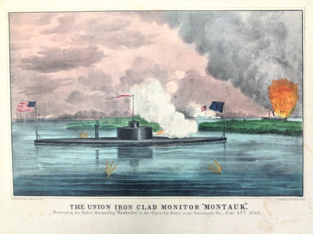 Chromolithograph, The Union Iron Clad Monitor,
