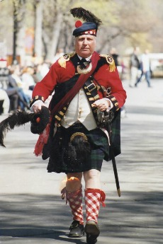 Robert Small in his 42nd Royal Highland Regiment Uniform.