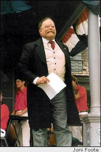 James Foote as Theodore Roosevelt